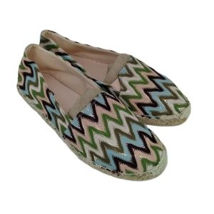 Faded Glory Chevron Print Espadrille Flats